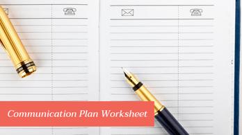 Coronavirus Communication Plan Worksheet
