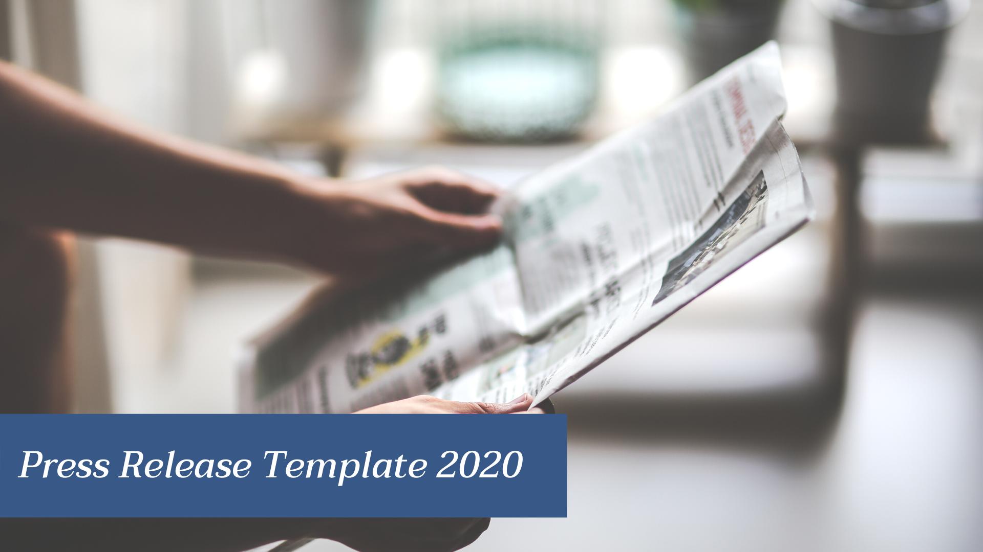 Press Release Template 2020